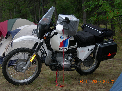 This guy was my neighbor and had the cleanest '81 R80GS that I've ever seen.  This is the bike that started it all!