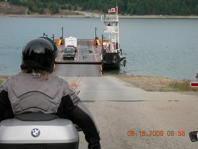Waiting for the free cable Ferry on the way out of town on Sunday.