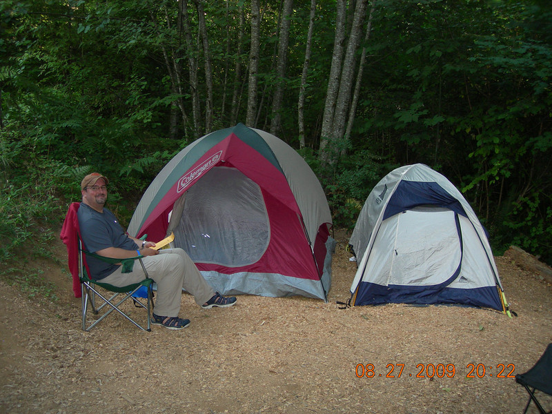 Home for the evening at Timberlake campground.