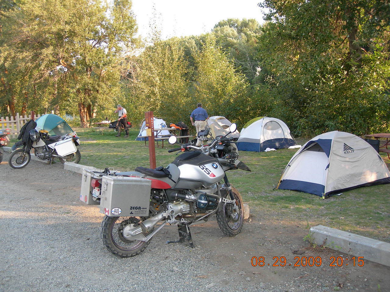 Camp for the night on Day 2 was the Ellensburg K.O.A. which turned out to be a beautiful spot.