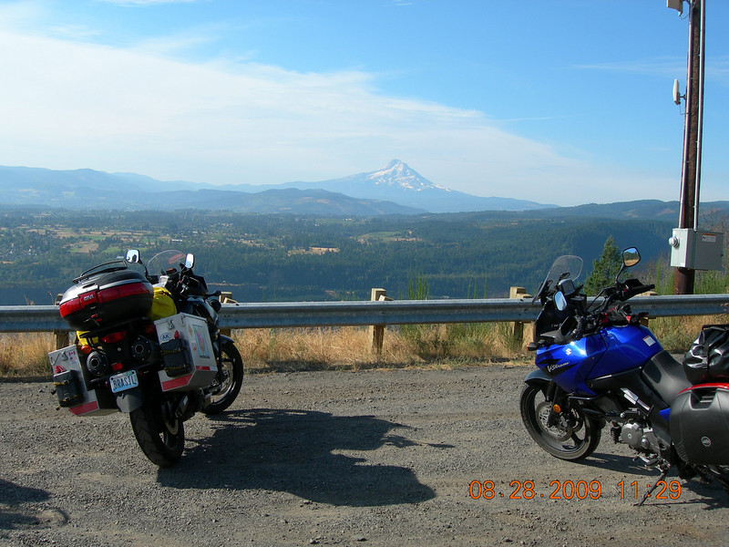Stunning views of Mt. Hood on the way...