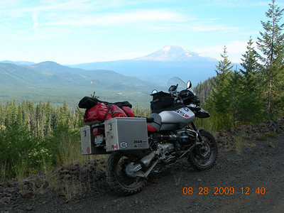 Stunning view of Mt. Adams in the back ground.