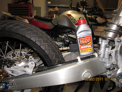 Bleeding front and rear brakes with the Motul RBF 600 Hi Temp Racing Synthetic brake fluid.