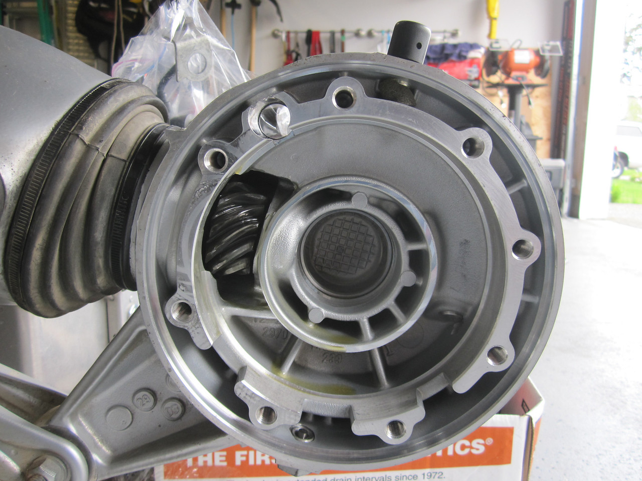 Put some gear lube on all bearing surfaces and gears.