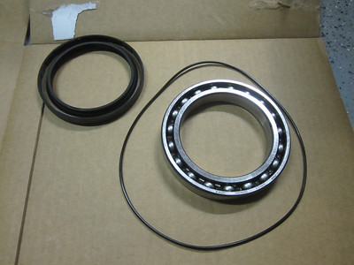 Old parts that will all be replaced including: - Big bearing, p/n# 33121242210, $84.52 - Shaft oil seal, p/n# 33127663482, $29.78 - 'O' ring, p/n#33111241257, $6.55