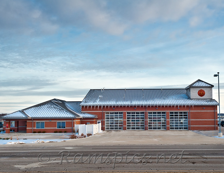 "Image of the ""West Side"" fire station on a very chilly winter 2011 afternoon."