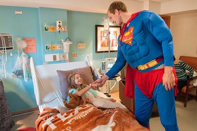 Charlotte Hornets Novant Health Halloween Hospital Visit 10-26-17 by Jon Strayhorn