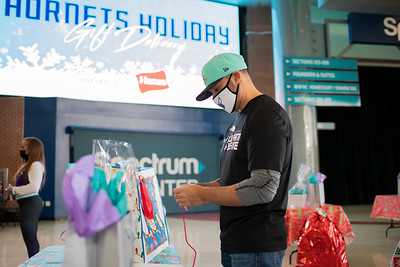 Hornets Adopt-A-Family Presented by Hanes @ The Spectrum Center 12-18-2020 by Jon Strayhorn