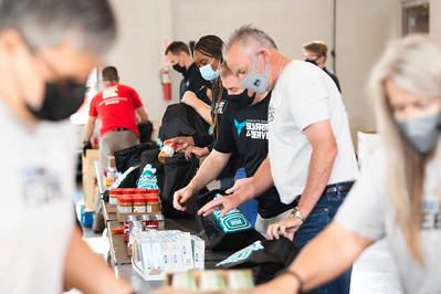 Hornets Backback For Hunger Food Lion Second Harvest Food Bank 4-28-2021 by Jon Strayhorn