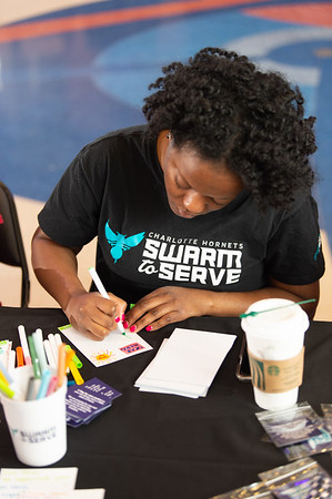 Charlotte Hornets Fondation Military Day @ Spectrum Arena 3-2-2020 by Jon Strayhorn