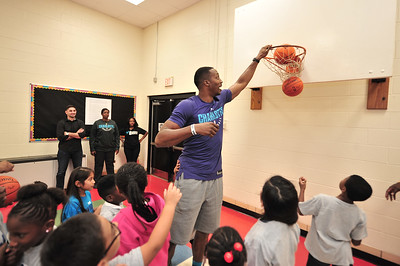 Hornets Jr. NBA Week Youth Basketball Clinic with Dwight Howard @ Starmount Academy of Excellence 10-12-17 by Jon Strayhorn