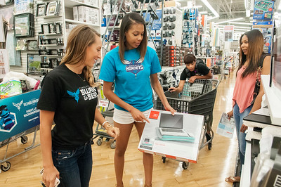Hornets Players Scholarship Fund College Shopping @ Bed Bath Beyond 8-1-17 by Jon Strayhorn