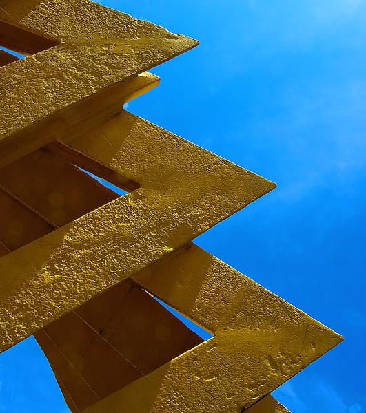 """Robert Winkler's sculpture titled """"Timeline"""""""