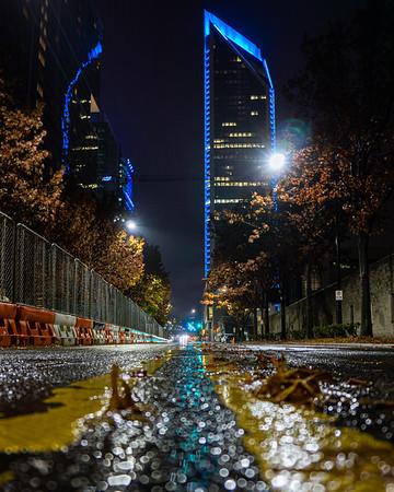 Duke Energy Tower Through the Rain
