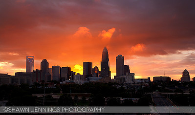We had a beautiful sunset last night in Charlotte after a storm rolled through. It's probably one of the most dramatic sunsets I've seen here.