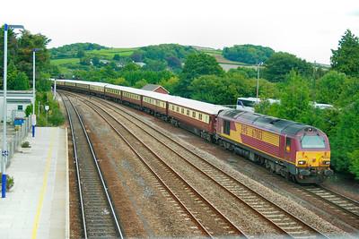 67003 arrives into Totnes on the: 1Z21 06:24 Birmingham International to Totnes  27/08/10