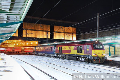 67024 calls at Carlisle in the snow on the: 1Z98 16:23 Edinburgh to Worcester Shrub Hill  01/12/10