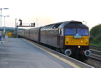"47854 heads east through Westbury on the: 1Z38 17:05 Plymouth to Norwich ""The South West Adventurer""  18/08/12"
