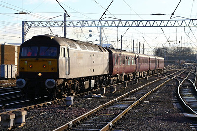 47786 arrives into Carlisle on the: 1Z75 07:57 Blackpool North to Edinburgh  05/12/12