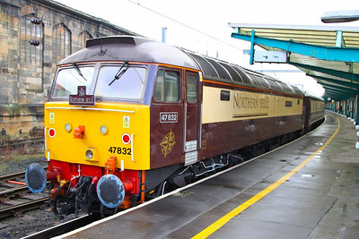 47832 reverses in Carlisle on the Northern Belle forming the: 1Z55 11:42 Darlington to Newcastle  03/12/12