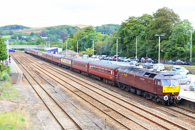"47854 calls at Totnes on the: 1Z37 05:05 Norwich to Plymouth ""South Western Adventurer""  18/08/12"