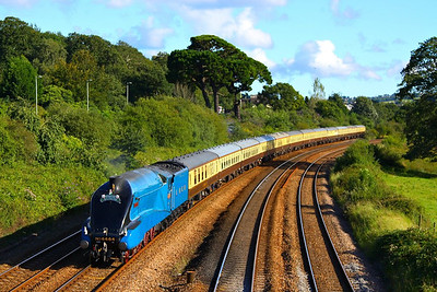 """4464 Bittern heads north through Aller Junction on the: 1Z28 16:50 Kingswear to Bristol Temple Meads """"The Torbay Express""""  19/08/12  Watch the video at: http://youtu.be/Aa-x1MtCfQE"""