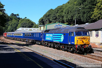 "47818 heads south through Torre on a Compass Tour - 1Z72 07:45 Liverpool South Parkway to Paignton ""The Devonian"" 02/09/13  Watch the video at: Watch the video at: http://youtu.be/D8UWLoxmvrE"