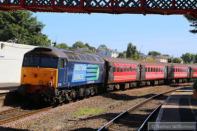 "47501 heads south through Torre on the rear of a Compass Tour - 1Z72 07:45 Liverpool South Parkway to Paignton ""The Devonian""  02/09/13"