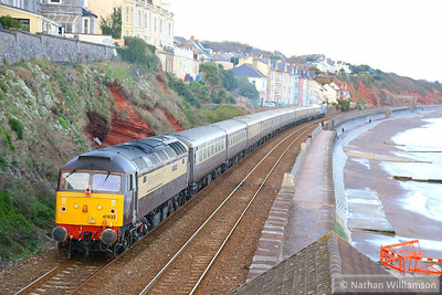 47832 heads north through Dawlish on the rear of the: 1Z69 15:08 Newton Abbot to Cardiff Central  04/12/13