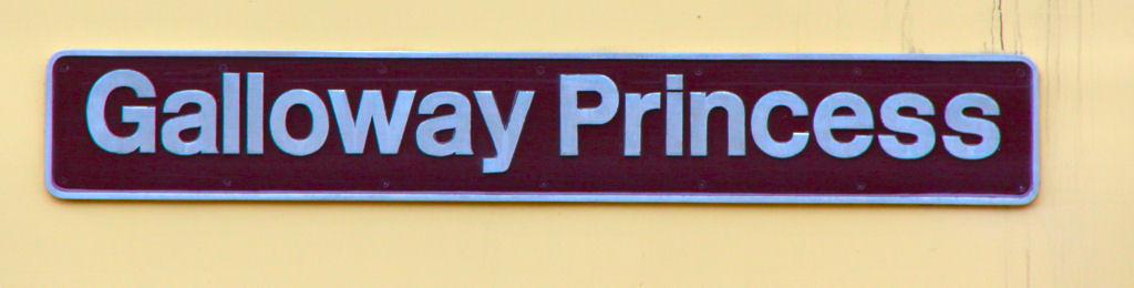 """47790 named """"Galloway Princess"""" 26/08/11"""