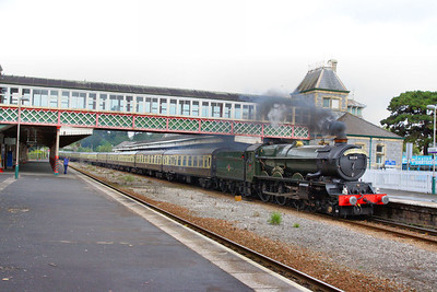"""6024 """"King Edward I"""" heads south through Torquay on the final Torbay Express of the 2011 season, the:  1Z27 09:15 Bristol Temple Meads to Kingswear 18/09/11"""