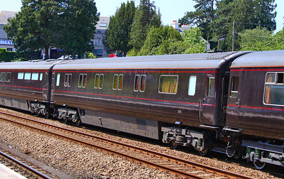 "Royal Coach No 2915 ""Royal Household Sleeping Car"" heads north through Totnes. 03/06/11. Contains 12 sleeper compartments and a shower room for the Royal Household.  Watch the video at: http://www.youtube.com/watch?v=gC0QJOIUxtE"