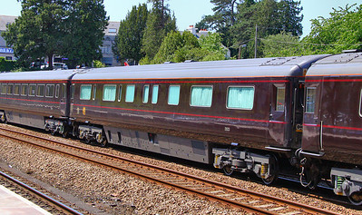 "Royal Train Coach No 2923 ""HRH The Prince of Wales's Saloon"" heads north through Totnes. 03/06/11 Purpose built Mk3b. Contains bedroom & Bathroom for the Prince of Wales  Watch the video at: http://www.youtube.com/watch?v=gC0QJOIUxtE"