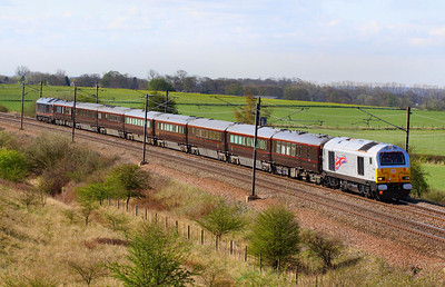 67026 heads north through Colton Junction with the Royal Train, taking the Queen to York  05/04/12  Watch the video at: http://youtu.be/agahOt9Q6o4