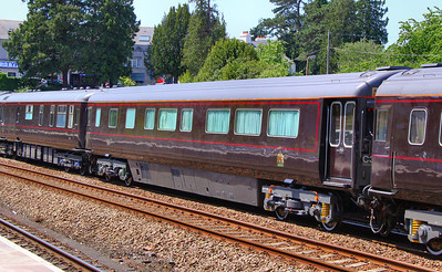 "Royal Coach No 2903 ""HM The Queen's Saloon"" heads north through Totnes. 06/06/11 Converted from Mka FO 11001, now consists of a lounge, bedroom and bathroom for the Queen. One entrance has double doors for the Queen to exit the train  Watch the video at: http://www.youtube.com/watch?v=gC0QJOIUxtE"