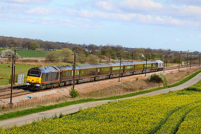 67006 heads south through Colton Junction with the Royal Train heading for Wolverton  05/04/12  Watch the video at: http://youtu.be/agahOt9Q6o4