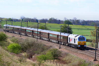 67026 heads south through Colton Junction on the rear of the Royal Train  05/04/12  Watch the video at: http://youtu.be/agahOt9Q6o4