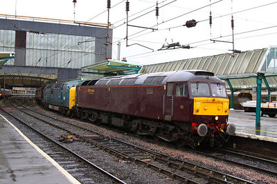 47851 & 55022 call at Carlisle on the: 5Z15 10:10 Carnforth to Bo'ness  06/12/12