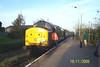 side on of <br /> <br /> 37 416 <br /> <br /> while it sits in the platform at Ormskirk