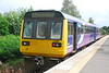 142 051 <br /> <br /> prepares to leave Ormskirk on the<br /> <br /> 10.41 to Preston <br /> <br /> this has to get to the mid way point of Rufford where this and the <br /> <br /> Northern Belle charter i was waiting for would cross