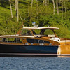 Lorelei is the perfect boat for parties of 2-14.  Includes an open back deck, an enclosed lower deck, wet bar, and head (bathroom). Perfect for afternoon company outings or sunset views.