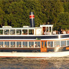 Evening dinner party aboard the Grand Belle of Lake Geneva.
