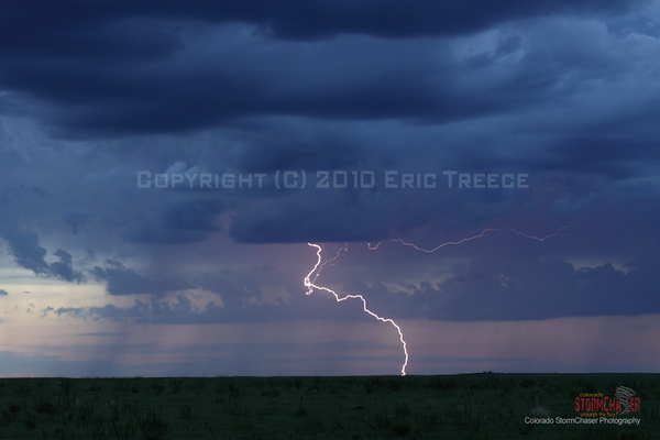 Lightning north of Seibert, CO.