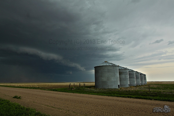 High based and unimpressive as it approaches Edson, KS.