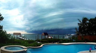 Here's a panorama shot of a beautiful storm rolling in over Florida Bay in August of 2006. It is comprised of four portrait-oriented shots and then stitched together... I was quite pleased with the results!