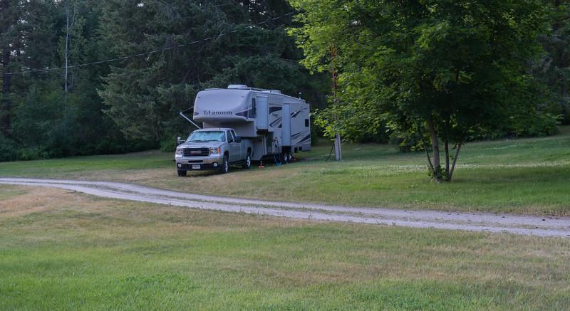 Campsite along the Kootenai River in Montana