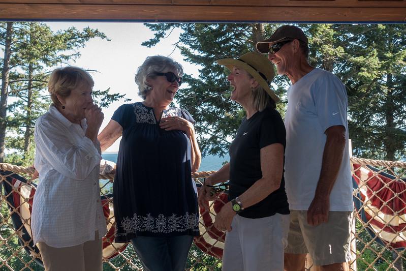 friends enjoying a good laugh with Paula