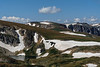 This is also on the Beartooth Highway just below the summit, 10,947'.