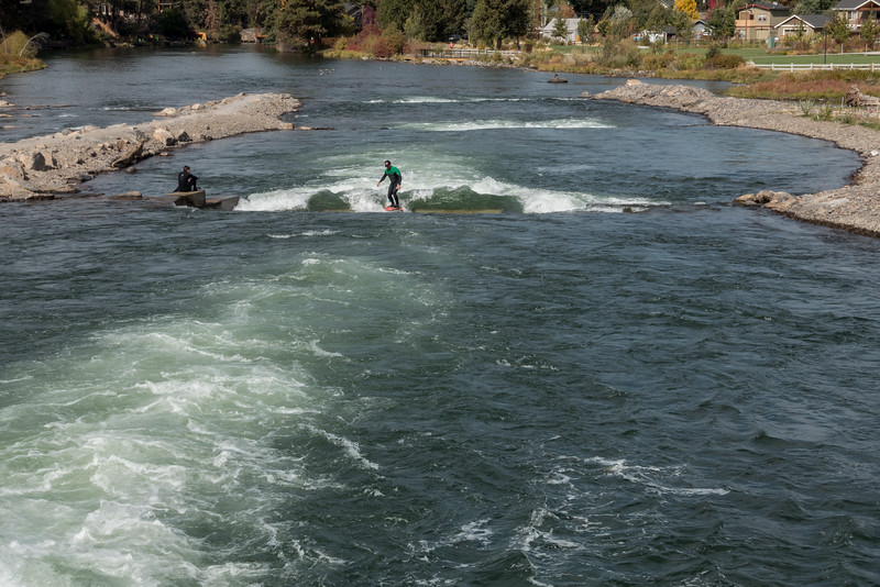 Surfing the Deschutes river