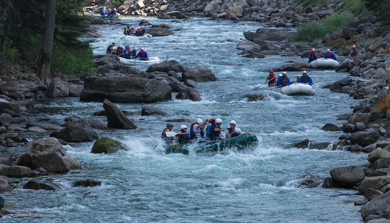 Rafting the Gallatin River in Montana.